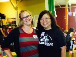 Natalie Kidder and Fary Koh, owner of BrickSpace