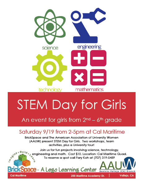 STEM Day for Girls, an event for girls from 2nd – 6th grade